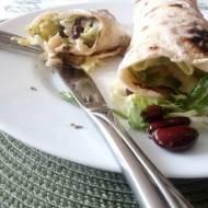 Tortilla z rybą i warzywami