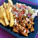 Domowy kebab z frytkami