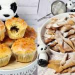 Pieczone chruściki i wegańskie pieczone pączki
