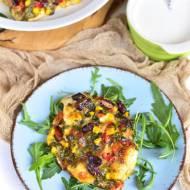 Kotlety drobiowe z warzywami i mozzarellą