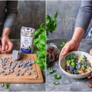 Kukurydziane kluski z cukinią i suszonymi pomidorami / Corn noodles with zucchini and dried tomatoes