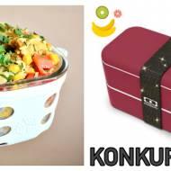 Sałatka z kurczakiem i ryżem w sosie orzechowym, czyli sposób na szybkie i proste danie do lunchboxa + KONKURS