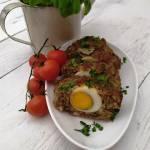 Pieczeń rzymska. Rolada z mięsa mielonego z jajkiem