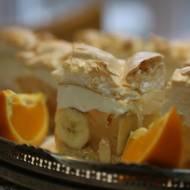 Ciasto jak chmurka z bananami, ananasem i mandarynkami