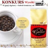 Sprawdź kto wygrał kawę Gallo i kubek termiczny od Horeca Caffee