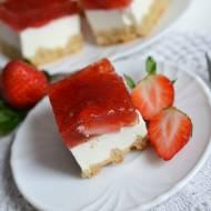 Ciasto truskawkowe na gofrach