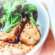 Grillowany kurczak z brokułami