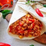 Burrito z ryżem i mięsem mielonym (Burrito con riso e carne di manzo)