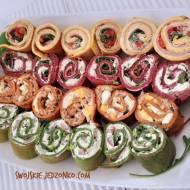 Roladki naleśnikowe w 4 smakach i kolorach