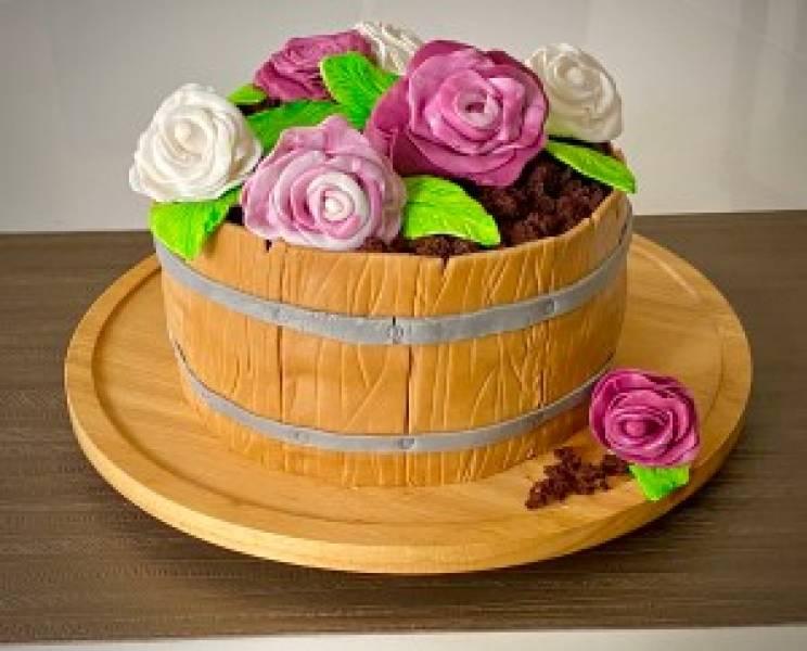 Tort donica z kwiatami – przepis krok po kroku