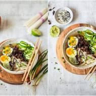 Azjatycki bulion z sosem rybnym i grzybami mun / Asian broth with fish sauce and mushrooms mun