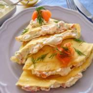 Naleśniki z wędzonym łososiem (Crespelle al salmone affumicato)