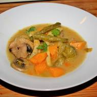 Zupa jarzynowa z pieczarkami i dynią, zimowy obiad