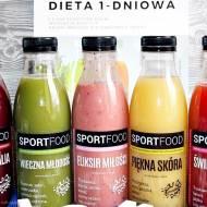 Dieta sokowa - recenzja soków Sportfood