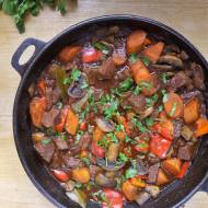 Gulasz węgierski z pieczarkami / Hungarian Stew with Mushrooms