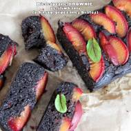 Dietetyczne brownie ze śliwkami (z kaszy gryczanej)