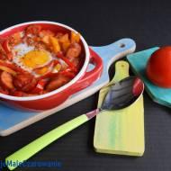 Huevos rancheros z chorizo
