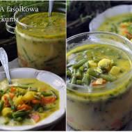 Zupa z fasolki szparagowej z kurkumą i imbirem
