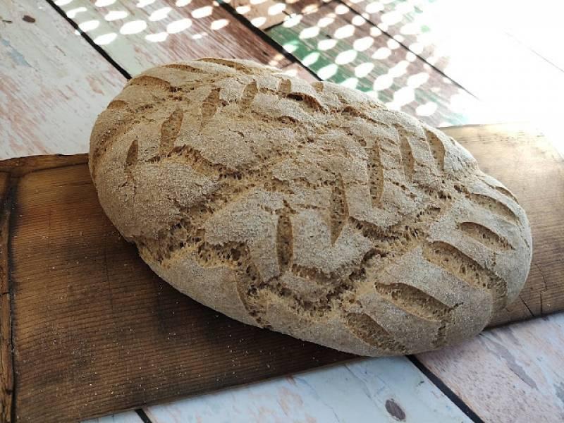 Chleb pszenno razowy z płatkami owsianymi