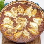 Muszle makaronowe zapiekane w sosie bolońskim
