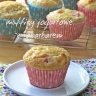 Jogurtowe muffiny z rabarbarem...