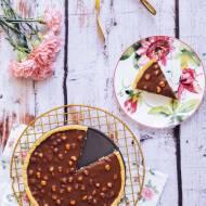 Czekoladowa tarta / mazurek z orzechami laskowymi
