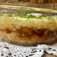 Zapiekanka z ryżu i pieczarek