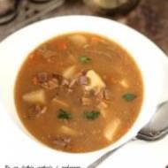 Zupa grzybowa z suszonych grzybów.