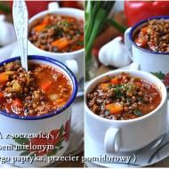 Zupa z mięsem i soczewicą