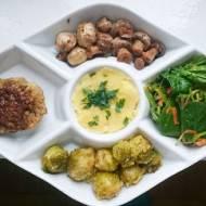 3x inspiracje marca: wypasiony obiad wege, zielony chleb i wege burger