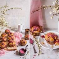 Kokosowe babeczki z wiśniami / Coconut cupcakes with cherries