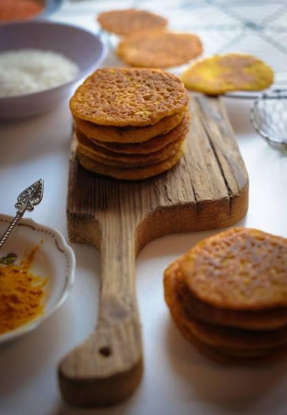 Placki z soczewicy i ryżu, bez mąki. Indyjskie dosy.