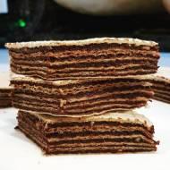 Domowy pischinger z masą czekoladowo-śliwkową