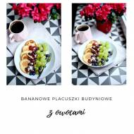 Bananowe placuszki budyniowe z owocami