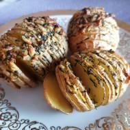 Pieczone ziemniaki czosnkowo-koperkowe