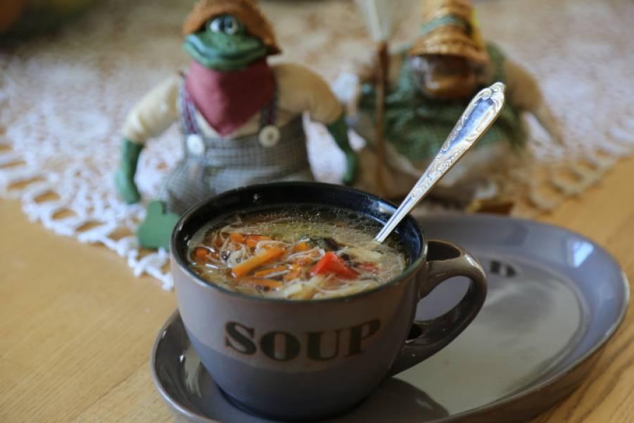 Zupa na mieszance chińskich warzyw