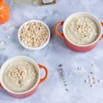 Zupa selerowa z orzechami laskowymi i oliwą truflową