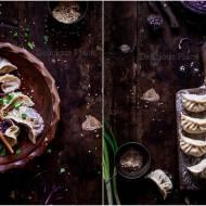 Pierogi z czerwoną kapustą i sezamem / Dumplings with red cabbage and sesame
