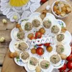 Jajka faszerowane z grzybami