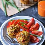 Muffiny jajeczne zawokado ipłatkami quinoa