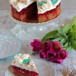 Ciasto malinowe z galaretką i kremem