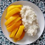 Tajlandia - Mango sticky rice (ข้าวเหนียวมะม่วง)