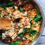 Danie jednogarnkowe: Zapiekanka z ryżu i kurczaka