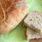 Chleb łyżką mieszany pieczony w naczyniu żaroodpornym