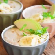 Pudding orkiszowy z gruszką i bananem FIT