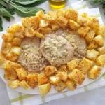 Kotlety schabowe w migdałach w białym winie i śmietanie (Braciole di maiale con mandorle a patate sabbiose)