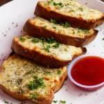 Pieczywo czosnkowe z żółtym serem