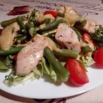 Sałatka z kurczakiem i fasolką szparagową