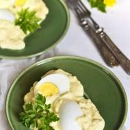 Jajka w sosie śmietanowo-musztardowym