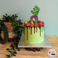 Tort ręcznie malowany – Hulk